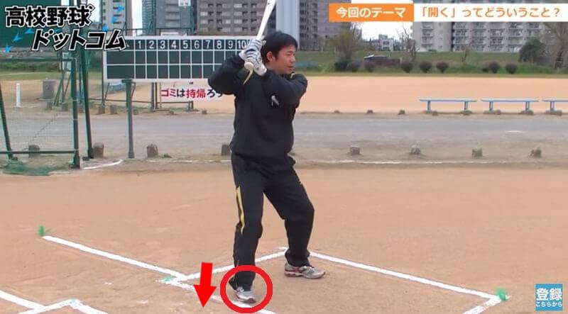 少年野球の体の開き