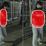 バッティングの体の開きを矯正する素振りの方法